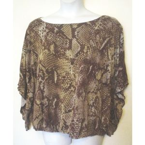 Marisa Christina Snake Pattern Knit Top 2X EC